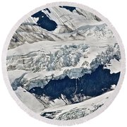 Deep Snow Round Beach Towel