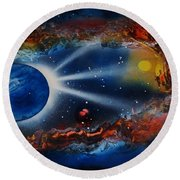 Deep Space Cavern Round Beach Towel