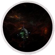 Deep Space  Gamma 1 Round Beach Towel