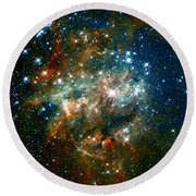 Deep Space Star Cluster Round Beach Towel