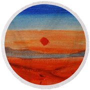 Deep Sunset Round Beach Towel