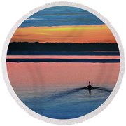 Deepest Sunset Round Beach Towel