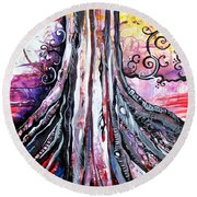 Deeply Rooted II Round Beach Towel