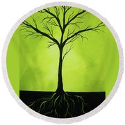 Deeply Rooted Round Beach Towel