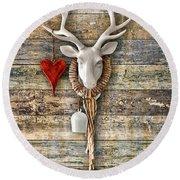 Deer Heart - Hirschherz Round Beach Towel