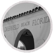 Deerfield Beach Florida Round Beach Towel