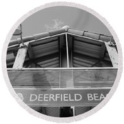 Deerfield Beach Round Beach Towel