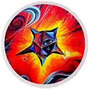 Defender Of The Way To Nirvana Round Beach Towel