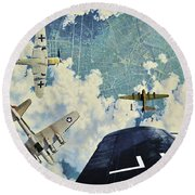 Defender. The Battle Of Berlin Round Beach Towel