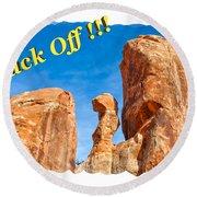 Defiant Rock 2 Round Beach Towel