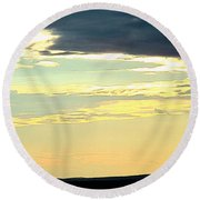 Defined Horizon Round Beach Towel