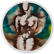 Defining Her Place More Than Series No. 1406 Round Beach Towel