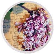 Defining Lilacs Round Beach Towel