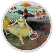 Degas: Dancer, 1878 Round Beach Towel