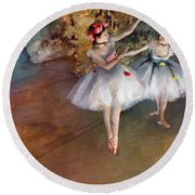Degas: Dancers, C1877 Round Beach Towel