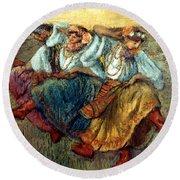 Degas: Dancing Girls, C1895 Round Beach Towel