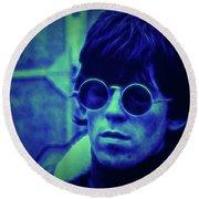 Deja Blue Rolling Stones Bill Wyman Round Beach Towel