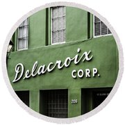 Delacroix Corp., New Orleans, Louisiana Round Beach Towel