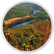 Delaware River From The Appalachian Trail Round Beach Towel