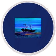 Deleon Round Beach Towel by Chris Cloud