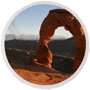 Delicate Arch Round Beach Towel