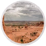 Delicate Arch Panoramic Round Beach Towel