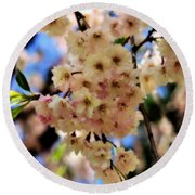 Delicate Blossoms Round Beach Towel