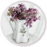 Delicate Bouquet Round Beach Towel