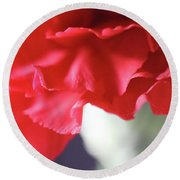 Delicate Carnation  Round Beach Towel