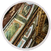 Delicate Details Versailles Chateau Up Close Interior France  Round Beach Towel
