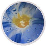 Delicate Dew Round Beach Towel
