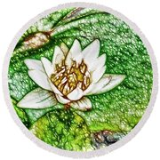 Delicate Fragrance Round Beach Towel