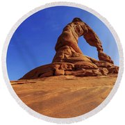Delicate Perspective Round Beach Towel