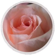 Delicate Pink Rose Round Beach Towel