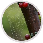 Delicate Spider Weave Round Beach Towel