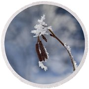 Delicate Winter Round Beach Towel