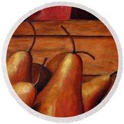 Delicious Pears Round Beach Towel
