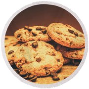 Delicious Sweet Baked Biscuits  Round Beach Towel
