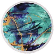 Delight II Round Beach Towel
