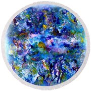 Delightfuly Beautiful Round Beach Towel