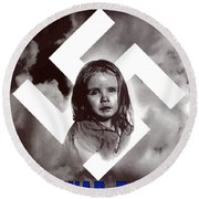 Deliver Us From Evil Round Beach Towel