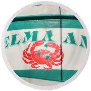 Delma Ann Round Beach Towel