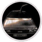 Delorean Round Beach Towel