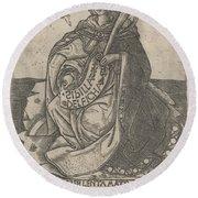 Delphian Sibyl Round Beach Towel