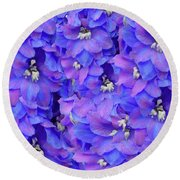 Delphinium Blue Round Beach Towel
