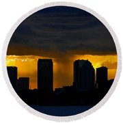 Deluge Round Beach Towel