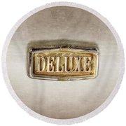 Deluxe Chrome Emblem Round Beach Towel