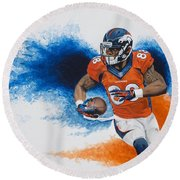 Demaryius Thomas Round Beach Towel