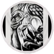 Demon In The Sky Round Beach Towel