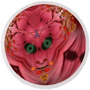 Demon Within Round Beach Towel